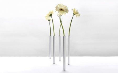 Die erstaunlichen Magnet Vasen 5er Set, in Silber oder Gold