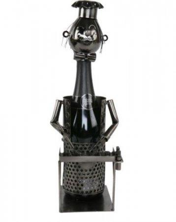 Flaschenhalter Barbecue Weinflaschenhalter Geschenk Geburtstag Metall Weinhalter