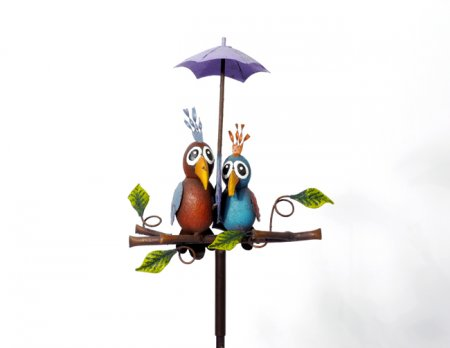 Gartenstecker Vogelpaar Gartendeko Höhe 138 cm