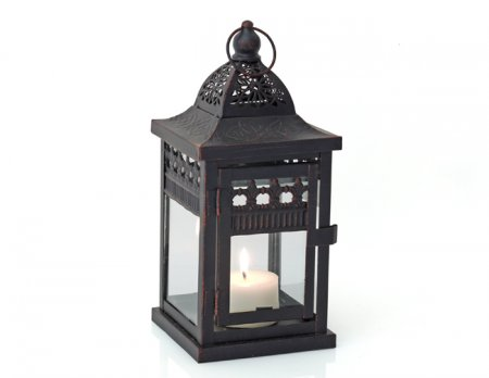 Laterne Lucca Kerzenhalter Windlicht 24 cm hoch Teelicht Garten Deko