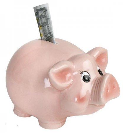 Sparschwein Spardose Sparbüchse Schwein pink M groß Keramik