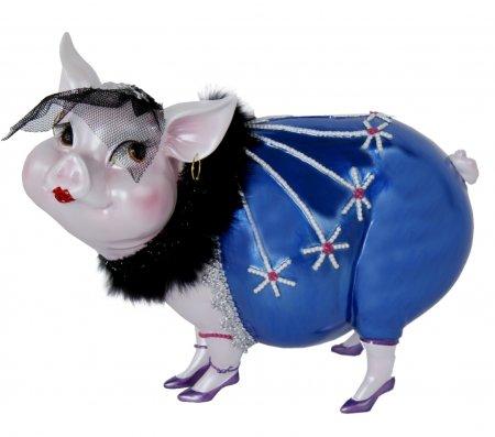 Sparschwein Spardose Tussi Lady blau