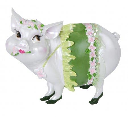 Sparschwein Spardose Tussi Lady grün