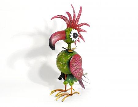 Windlicht Papageno Dekofigur Metall bunt