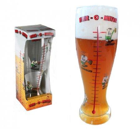 XXL Bierglas, Bier - O - Meter, Weizenglas, Weißbierglas