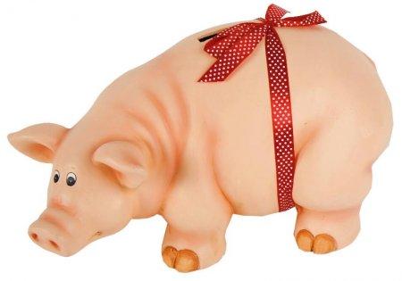 XXL Spardose Sparschwein mit roter Schleife Hochzeit Trauung Geldgeschenk