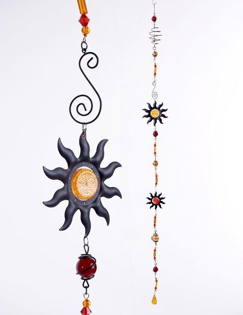 Wundersch ne girlande deko gartendeko sonne 140 cm lang for Metall sonne gartendeko