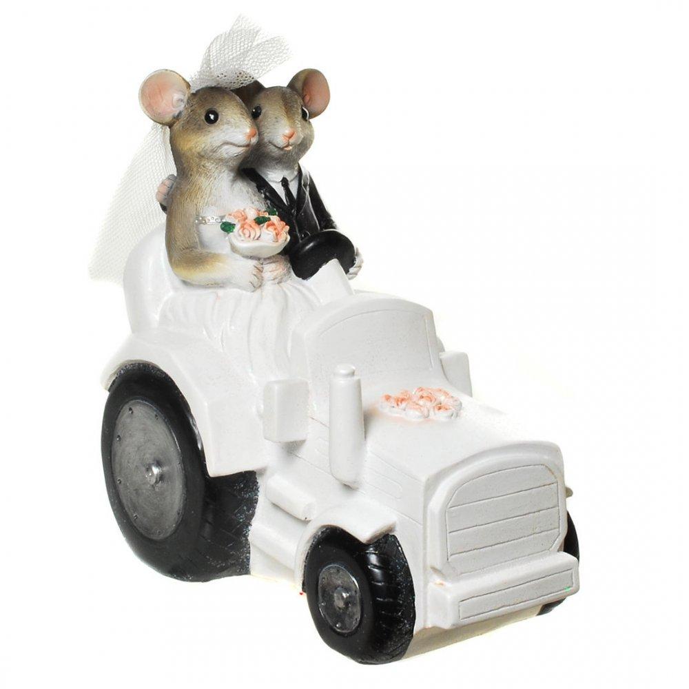 Spardose Hochzeits Mause Im Traktor Bei Geschenk Himmel De