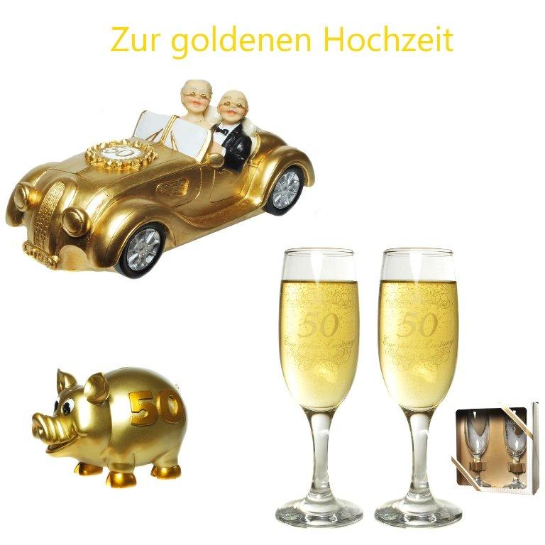 Spardose Zur Goldenen Hochzeit Sektglaser Auto Hochzeit