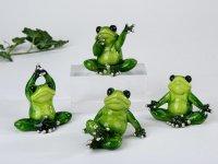 Yoga Frosch grasgrün Figur 8 cm, sortiert