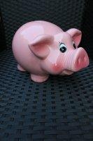 Sparschwein Spardose Sparbüchse Schwein pink XXL groß Keramik