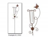 Regenmesser Gartenstecker Schmetterling