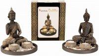 Buddha 1 Set für zwei Teelichter