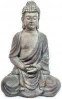 Buddha sitzend Buddha Skulptur Gartenfigur 47 cm groß
