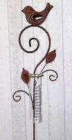 Gartenstecker Regenmesser Merle aus Metall L 108cm