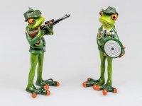 Formano Frosch Schütze mit Gewehr oder Zielscheibe Schützenverein Figur