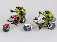 Formano Frosch Biker Motorrad Paar Froschpaar rot oder weiß Deko Chopper