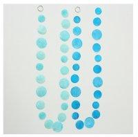 Boltze Girlande Capiz Muschel blau türiksblau Länge 180 cm