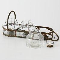 Boltze Teelichthalter Zuma 7-teiliges Set Eisen Länge 39cm