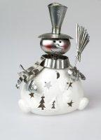 Formano Schneemann aus Porzellan als Windlicht Deko Weihnachten