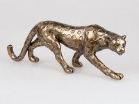 Formano Leopard Deko Figur aus Kunstein antik-golderer Oberfläche