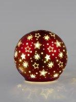 Formano Deko Kugel mit LED D. 30 cm Champanger Gold mit Perlen