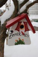Die Vogelvilla Nistmini Zimmer frei Farbe weiss