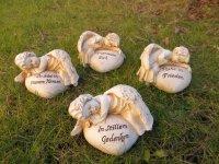 Engel auf Herz mit Spruch