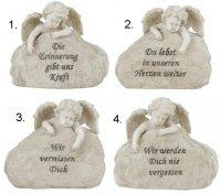 Engel mit Spruch, Trauerstein für das Grab Grabstein