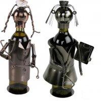 Flaschenhalter Krankenschwester, Weinflaschenhalter aus Kupfer oder Metall