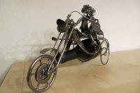 Flaschenhalter Motorrad mit Paar Weinflasche Geschenk