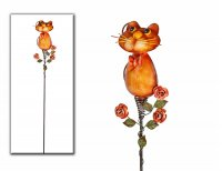 Gartenstecker Katze Gartendeko Höhe 110 cm