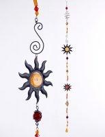 Girlande Hänger Sonne aus Metall/Acryl Gartendeko