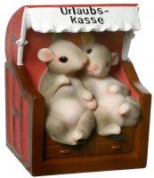 Spardose Urlaubs-Kasse mit süßen Mäusen