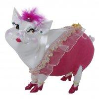 Sparschwein Spardose Tussi Lady pink
