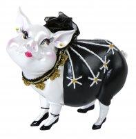 Sparschwein Spardose Tussi Lady schwarz
