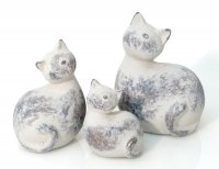 Süße Katze aus Keramik H 20 cm groß